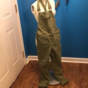 Overalls olive green